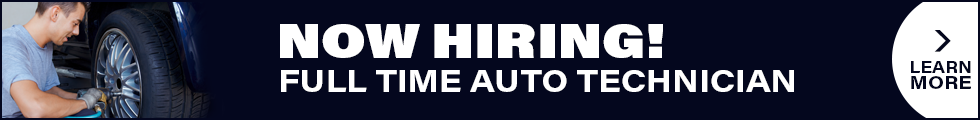 Now Hiring! Full time auto technician.